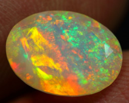 TOP AAA 2.70cts Top Notch Galaxy Pattern Natural Ethiopian Welo Opal