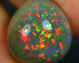 13.60CT 19X17MM Rare Quality Natural Welo Dark Ethiopian Opal - GBB7