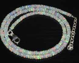 OPAL NECKLACE MADE WITH NATURAL ETHIOPIAN BEADS OBJ-18