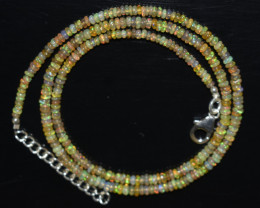 OPAL NECKLACE MADE WITH NATURAL ETHIOPIAN BEADS OBJ-19