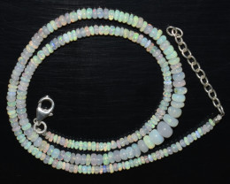OPAL NECKLACE MADE WITH NATURAL ETHIOPIAN BEADS OBJ-31