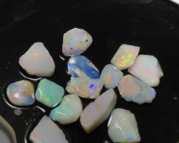 13.20ct lightning ridge Bright gem rubs for inlay