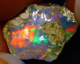 5.86Ct Multi Color Play Ethiopian Welo Opal Rough F1805