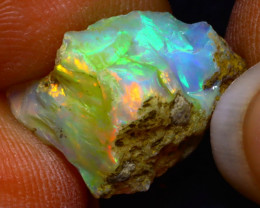 5.91Ct Multi Color Play Ethiopian Welo Opal Rough F1820