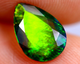 0.83cts Natural Ethiopian Welo Faceted Smoked Opal / BF702
