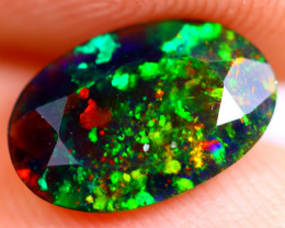 0.93cts Natural Ethiopian Welo Faceted Smoked Opal / BF705