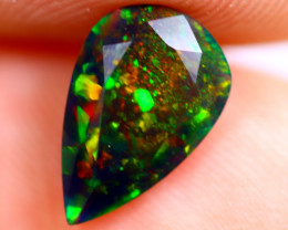 0.80cts Natural Ethiopian Welo Faceted Smoked Opal / BF708