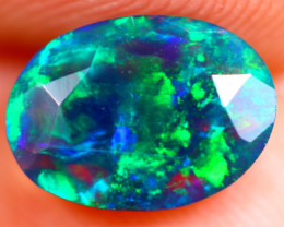 1.00cts Natural Ethiopian Welo Faceted Smoked Opal / BF709