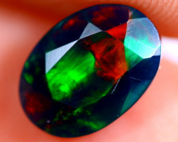 1.11cts Ethiopian Welo Faceted Smoked Black Opal / BF723