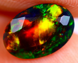 1.08cts Ethiopian Welo Faceted Smoked Black Opal / BF725