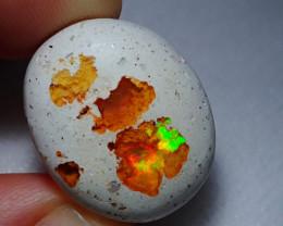 26.87ct Mexican Matrix Cantera Multicoloured Fire Opal