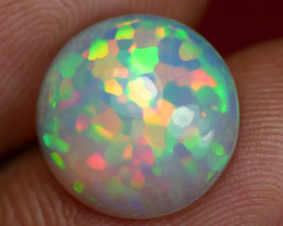 3.60 CT GORGEOUS HEXAGONAL PATTERN ROUND SHAPE WELO OPAL