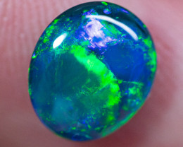 BEAUTIFUL 1.84 cts Solid gem black opal BOPA160120