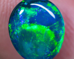 BEAUTIFUL 1.84 cts Solid gem black opal BOPA160120