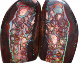 141.75 CTS STUNNING BOULDER OPAL FROM KOROIT PAIR [SEDA2997]