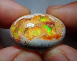 31.71ct Mexican Matrix Cantera Multicoloured Fire Opal