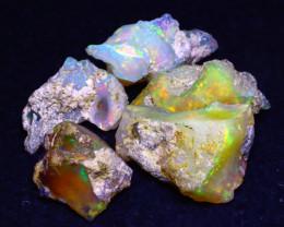 28.00Ct Multi Color Play Ethiopian Welo Opal Rough F2004