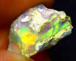 6.83Ct Multi Color Play Ethiopian Welo Opal Rough F2005