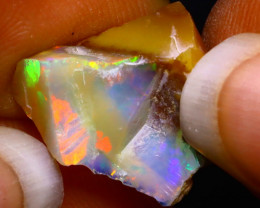 7.44Ct Multi Color Play Ethiopian Welo Opal Rough F2012