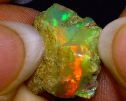 5.81Ct Multi Color Play Ethiopian Welo Opal Rough F2020