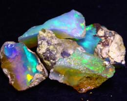 27.90Ct Multi Color Play Ethiopian Welo Opal Rough G2105