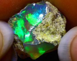7.24Ct Multi Color Play Ethiopian Welo Opal Rough G2107
