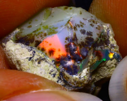 12.48Ct Multi Color Play Ethiopian Welo Opal Rough G2112