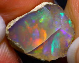9.07Ct Multi Color Play Ethiopian Welo Opal Rough F2201