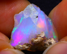 7.99Ct Multi Color Play Ethiopian Welo Opal Rough F2214