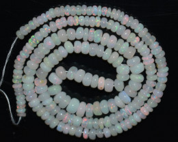38.90 Ct Natural Ethiopian Welo Opal Beads Play Of Color OB903