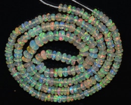 30.60 Ct Natural Ethiopian Welo Opal Beads Play Of Color OB904