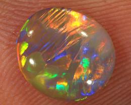 0.95ct 8.7x7.7mm Solid Lightning Ridge Crystal Opal [LO-2038]