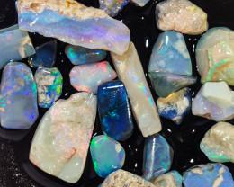 Rough Opal Lot 87.80 cts 24 pcs Black Opals Lightning Ridge BORAB180120