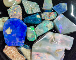 Rough Opal Lot 67.60 cts 15 pcs Black Opals Lightning Ridge BORC180120