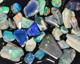 Rough Opal Lot 102.20 cts 32 pcs Black Opals Lightning Ridge BORA180120
