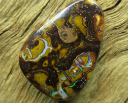 37cts, BOULDER MATRIX OPAL~SIDE DRILLED.