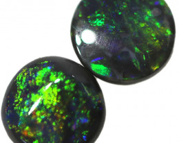 0.57 CTS BLACK OPAL PAIR FROM LIGHTNING RIDGE  [LRO778]
