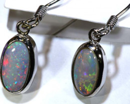 0.75CTS - SOLID OPAL  SILVER EARRING OF-2716