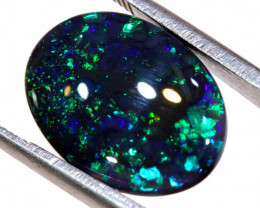 N1 -6.40  CTS DOUBLE SIDED BLACK OPAL POLISHED STONE  INV-1497