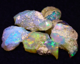 26.47Ct Multi Color Play Ethiopian Welo Opal Rough G2301