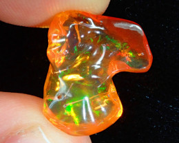 7.68ct Mexican Carving Fire Opal