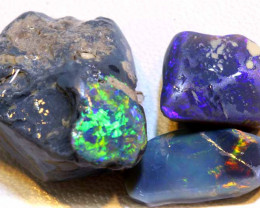 39.85 -CTS  BLACK OPAL ROUGH  PARCEL  L. RIDGE  DT-A776