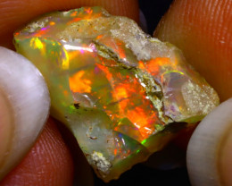 5.78Ct Multi Color Play Ethiopian Welo Opal Rough F2603