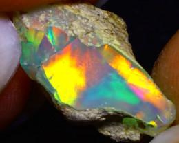 6.62Ct Multi Color Play Ethiopian Welo Opal Rough F2605