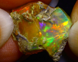 5.76Ct Multi Color Play Ethiopian Welo Opal Rough F2617