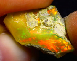 6.03Ct Multi Color Play Ethiopian Welo Opal Rough F2621