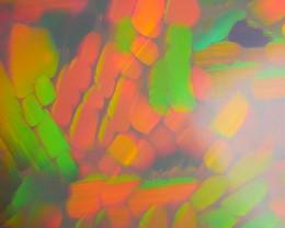 10.15CRT RARE!! AMAZING 3D MOSAIC HONEYCOMB RAINBOW 5/5 COLOR WELO OPAL*