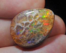 29.29ct. Mexican Matrix Cantera Multicoloured Fire Opal