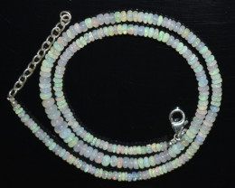 38.50 CT OPAL NECKLACE MADE WITH NATURAL ETHIOPIAN BEADS OBJ-32