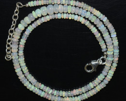 38.40 CT OPAL NECKLACE MADE WITH NATURAL ETHIOPIAN BEADS OBJ-35